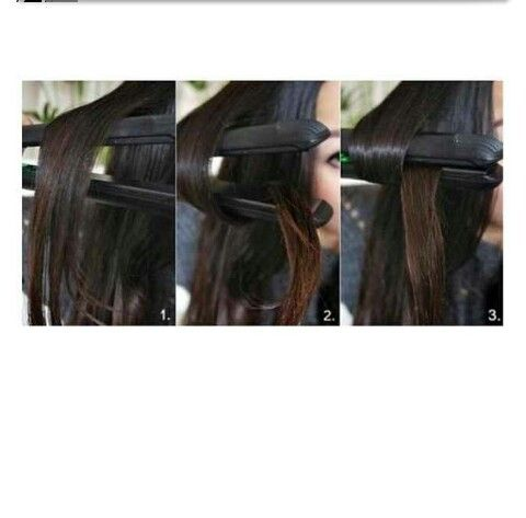 DIY:How to curl your hair with a flat iron