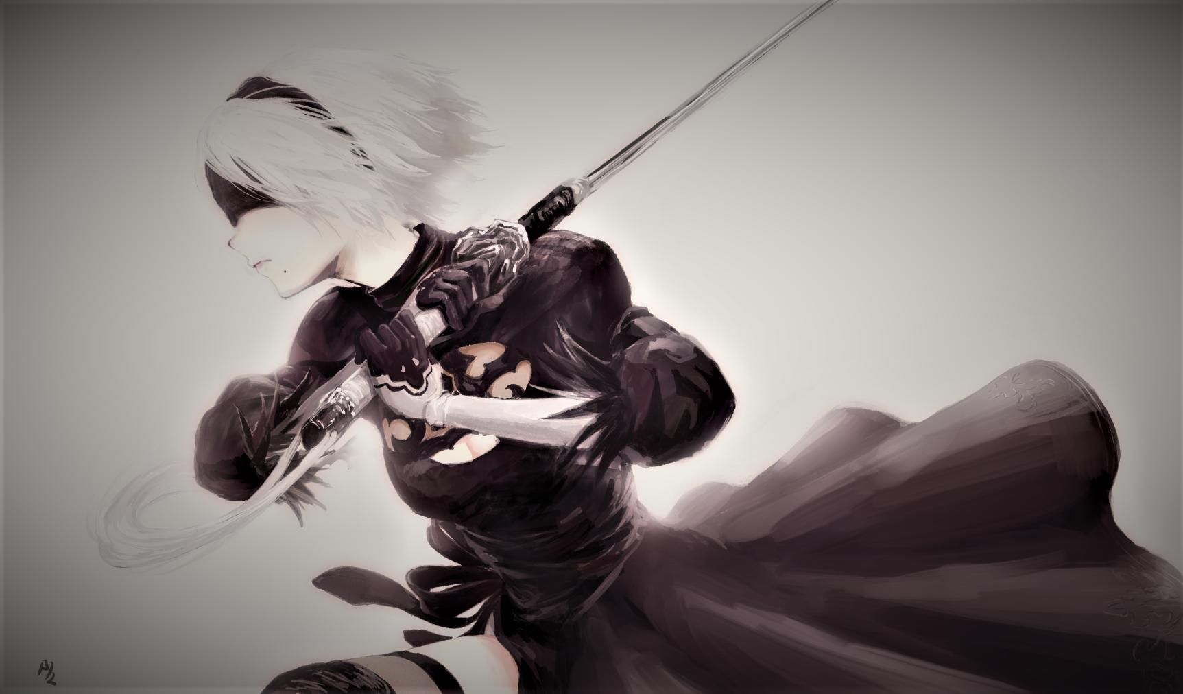Hd wallpaper nier automata - Yorha No 2 Type B 1725x1012 Hd Wallpaper From Gallsource Com Nier Automatahd Wallpaper
