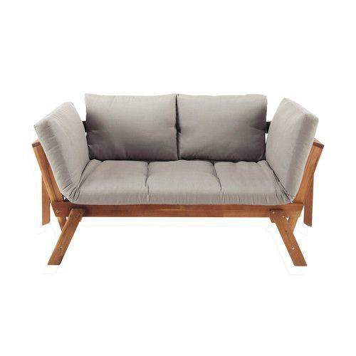 Modulare 3 Sitzer Gartenpolsterbank Aus Akazienholz Diy Garden Furniture Sofa Upholstery Furniture Upholstery