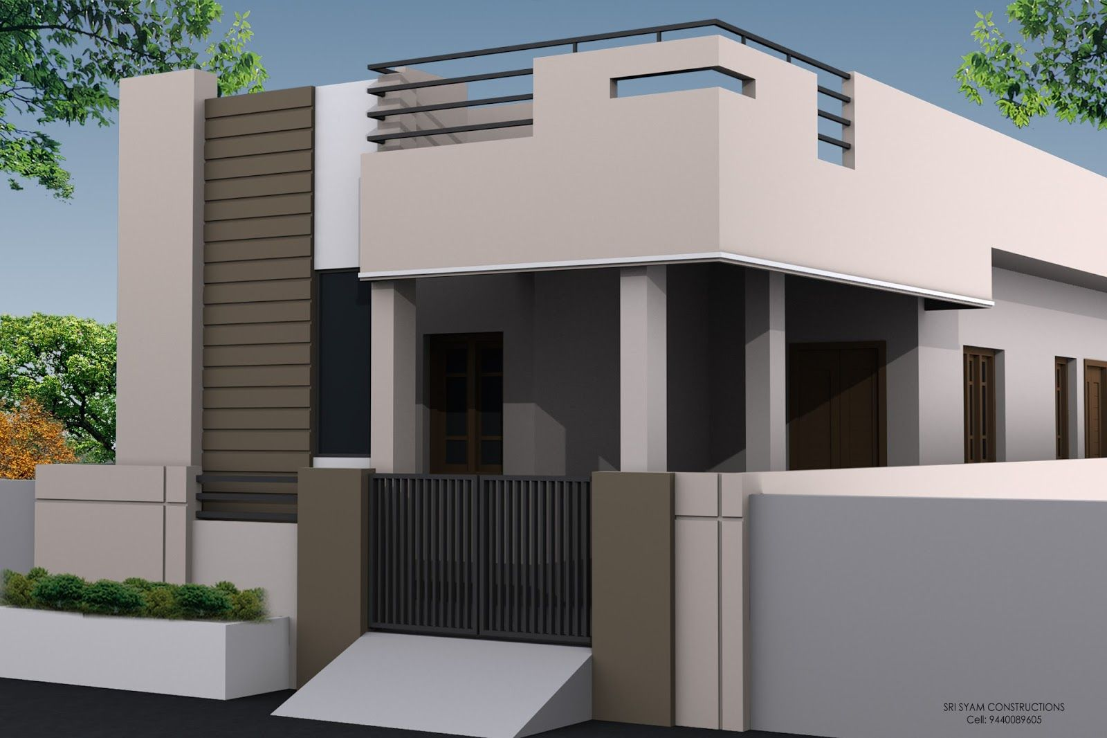91df4338294c88491193d9acd2a27d83 - Download Small House Single Floor Elevation Designs Images
