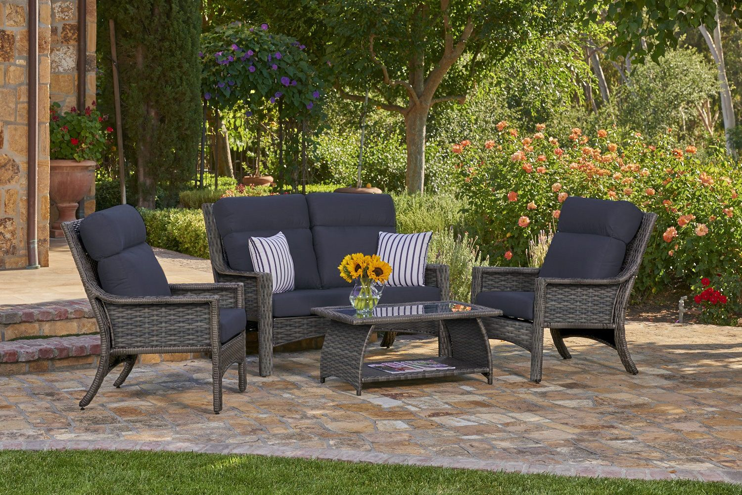 Baja 4 Piece Wicker Patio Set Wicker Patio Set Northcape Patio
