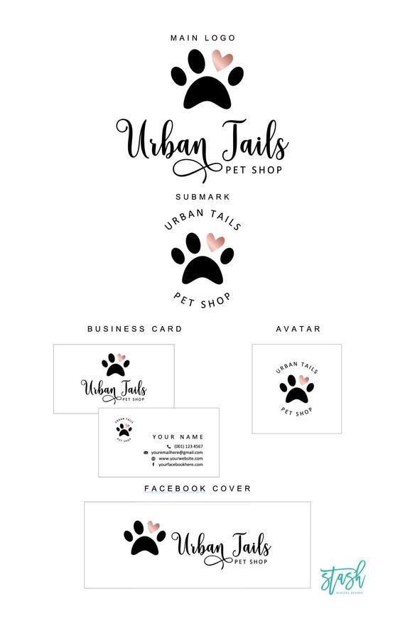 Dog Logo Design Pet Logo Dog Paw Logo Paw Logo Design Etsy Dog Logo Design Paw Logo Pet Logo Design