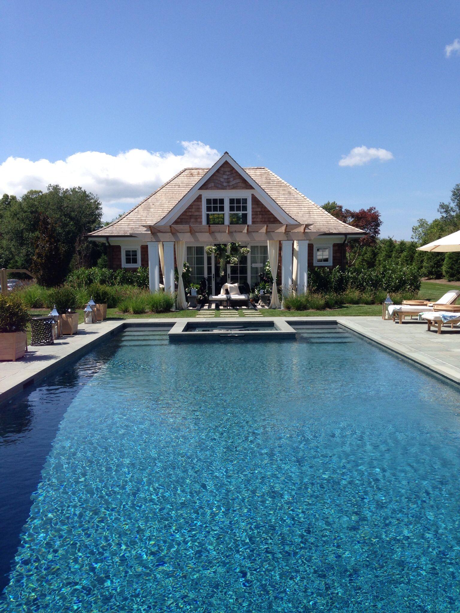 #poolhouse #outdoordesign #hamptondesignershowhouse