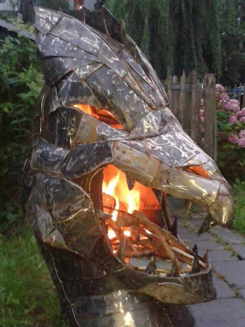 Dragon fire sculpture / fire pit - Dragon Fire Sculpture / Fire Pit Outdoors Pinterest Dragons