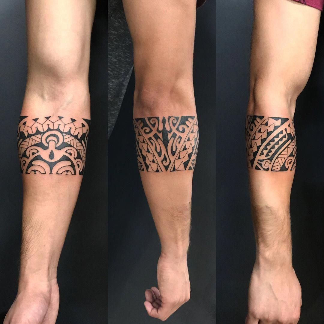 Maori Bracelet Tattoo: Maori Tattoos Band #Maoritattoos #Polynesiantattoos