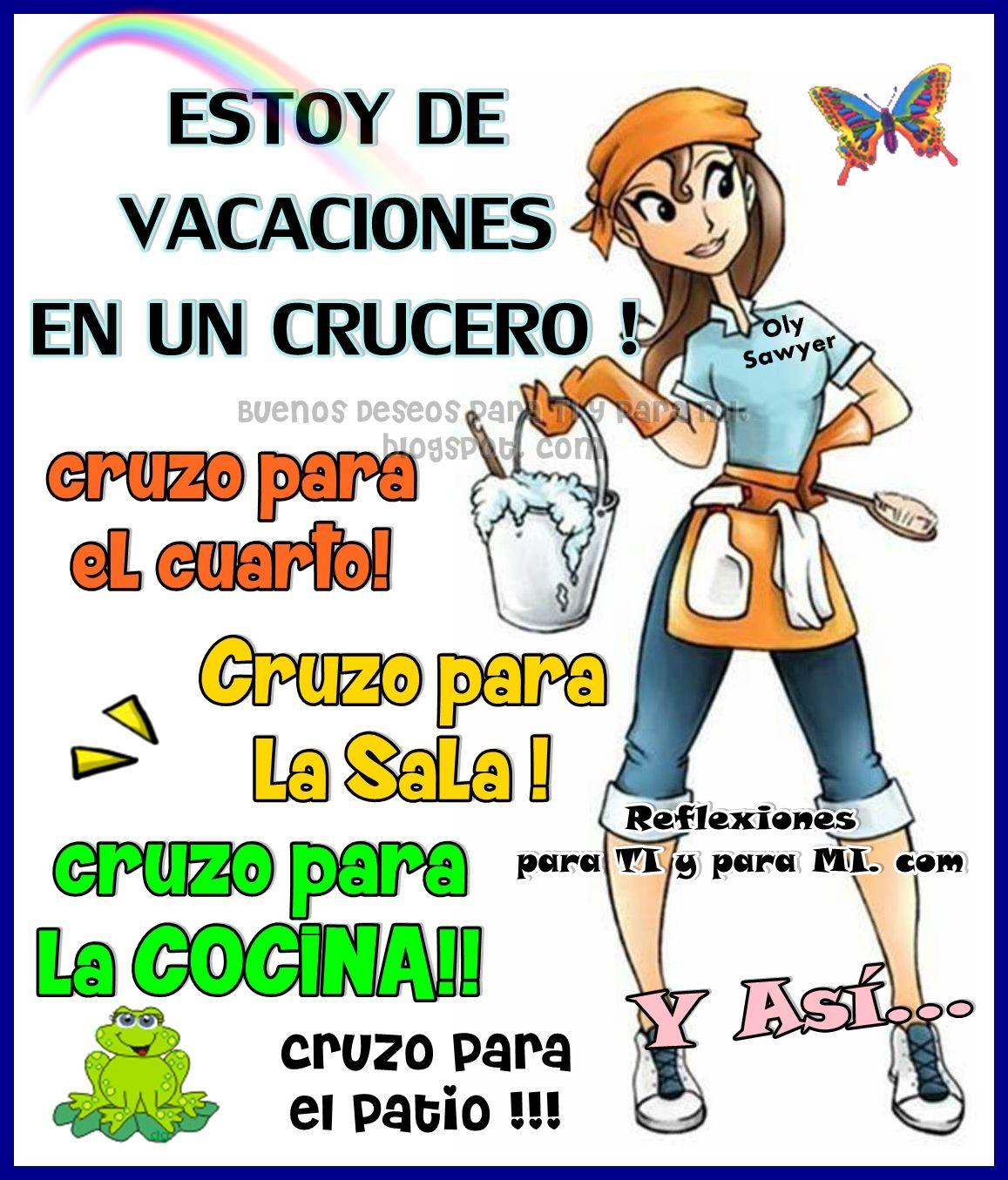 ESTOY DE VACACIONES EN UN CRUCERO ! | Mensaje Bonito | Pinterest ...