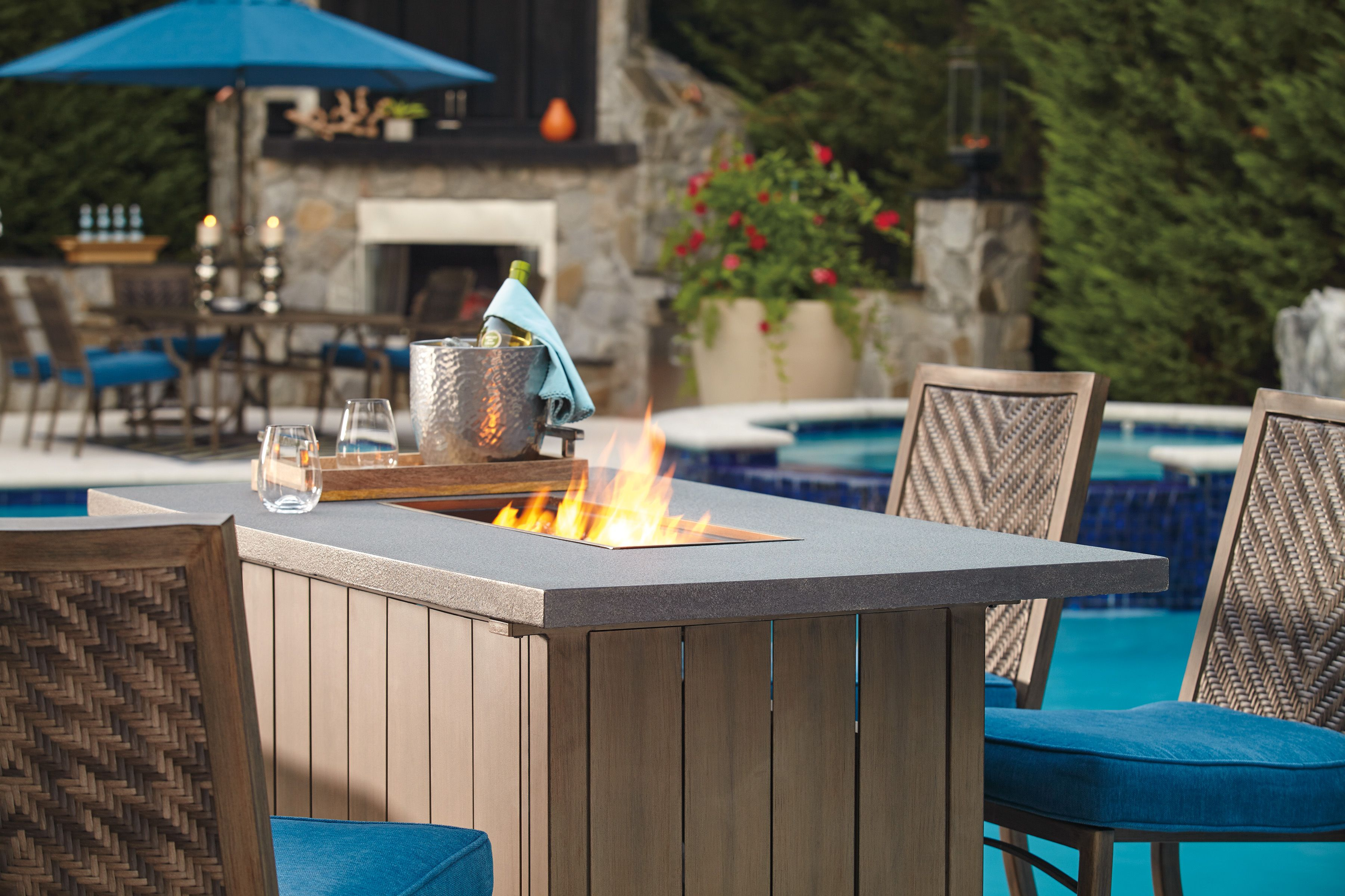 Swell Are You Ready To Be Entertained The Partanna Fire Pit Pub Uwap Interior Chair Design Uwaporg