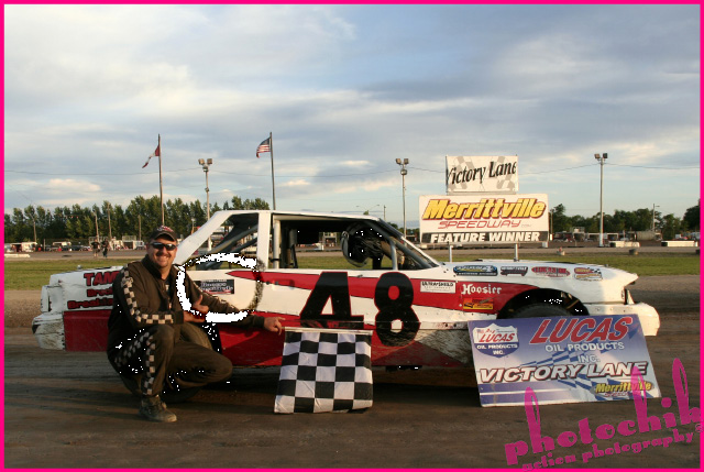 Merrittville Speedway #48 Rob Overholt ..thanks for Promoting Racers Classifieds and congratulations on your recent feature win at Merrittville