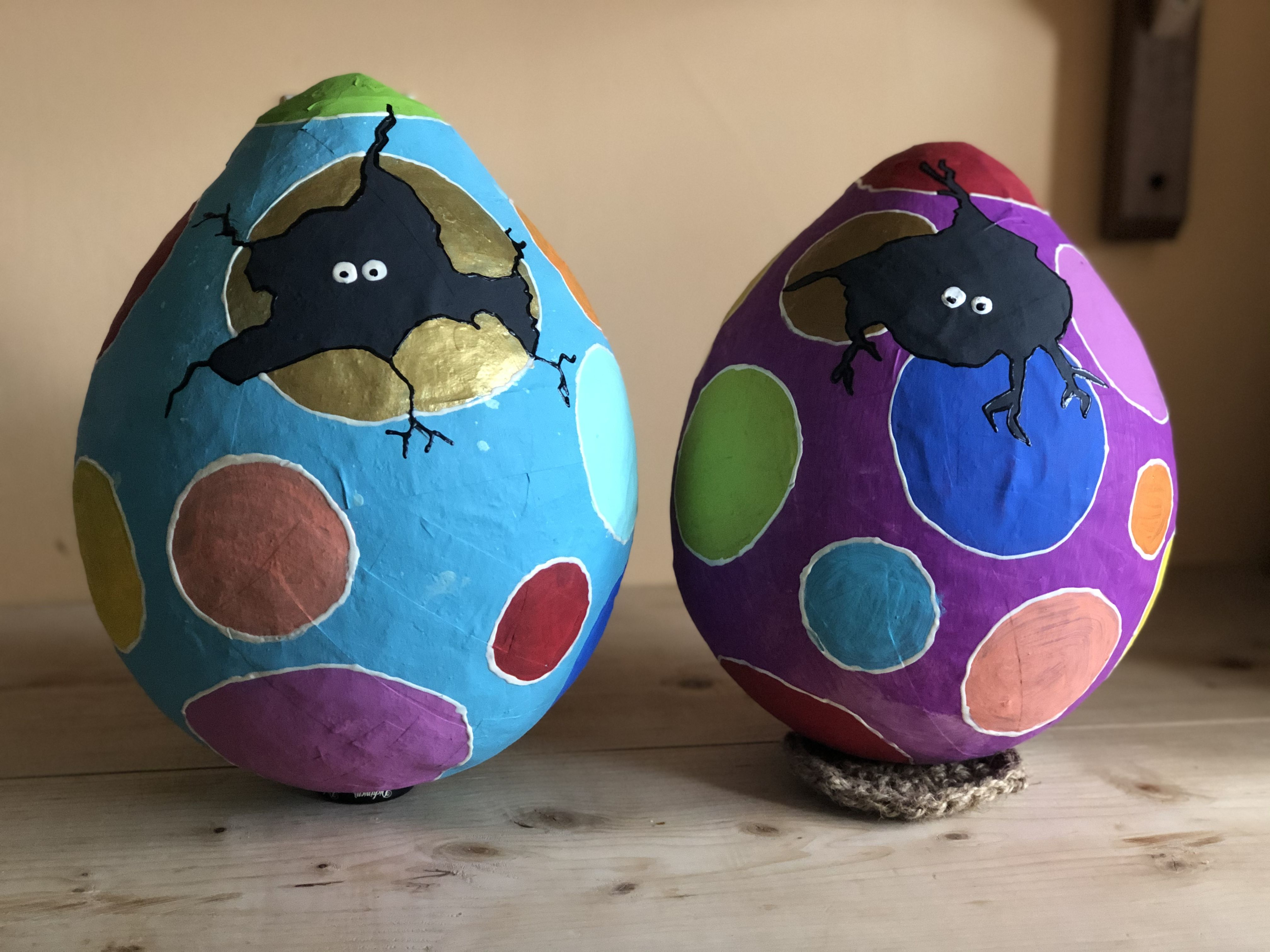 how to make paper mache easter egg baskets