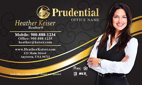 Realtor with gold prudential realty business cards design 105112 realtor with gold prudential realty business cards design 105112 reheart Choice Image