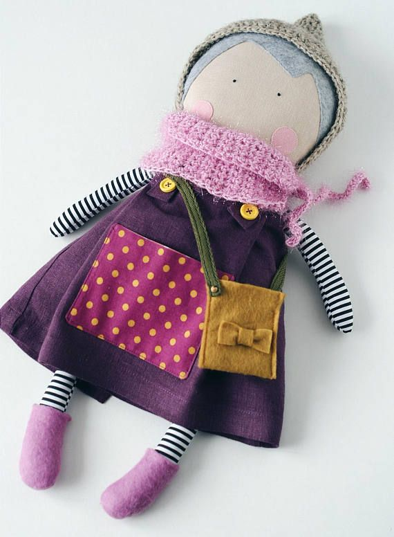 d4bb64a9ada28 Personalized doll Handmade cloth doll with clothes Dress up rag doll  Heirloom doll to dress Textile