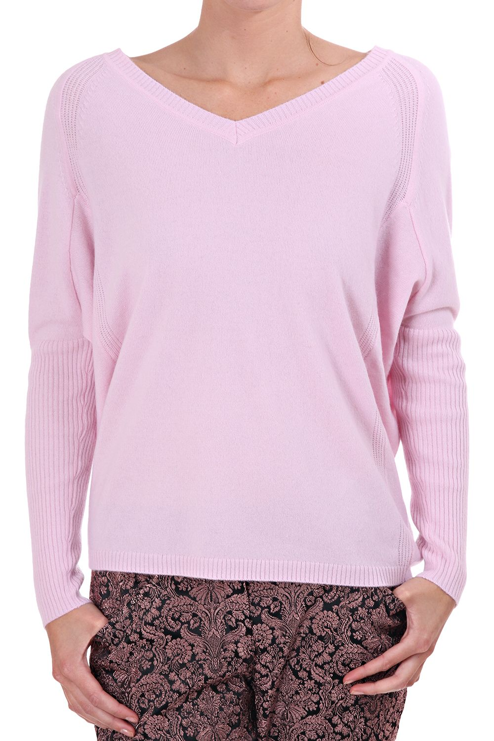 ted baker womens ivetta v neck cashmere sweater pale pink http ...