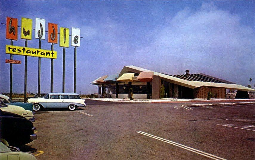 Huddle Restaurant West Covina Ca Mid 1950s Gas Food