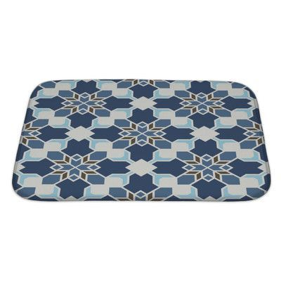 Gear New Delta Abstract Geometric Islamic Wallpaper Arabic Colorful Pattern Bath Mat/Rug Size: