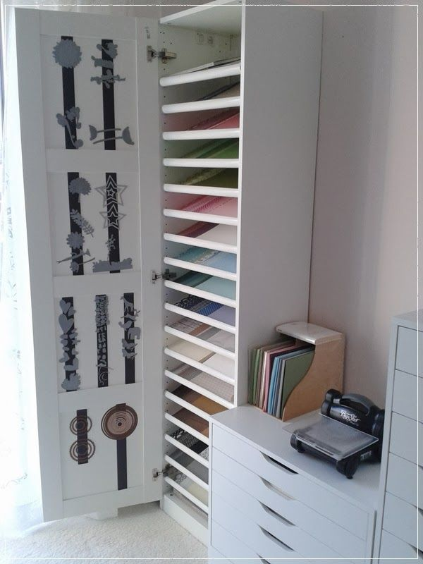carolas bastelst bchen papieraufbewahrung ikea pax schuhregal drinnen pinterest. Black Bedroom Furniture Sets. Home Design Ideas