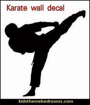 Karate Wall Decal Jpg 305 353 Karate Art Theme Bedroom Themes