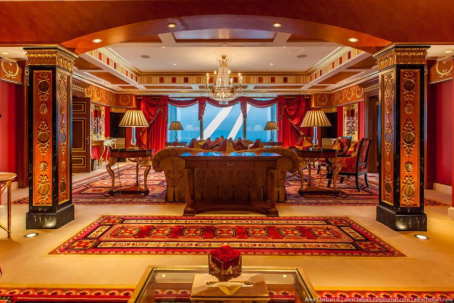 the most expensive room in the seven-star burj al arab hotel