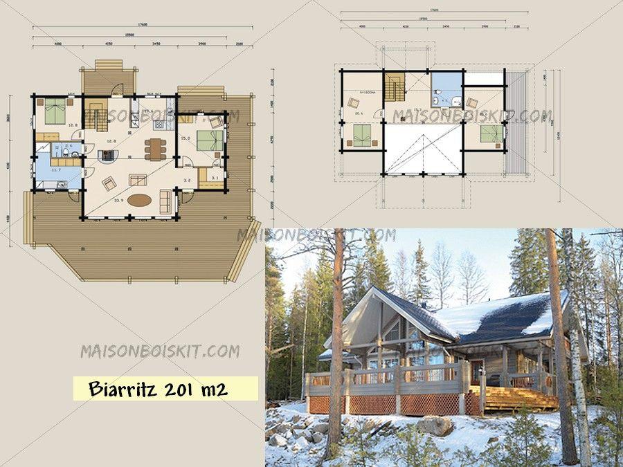 Plans gratuits de maisons bois contemporaines toit plat Lake cabin