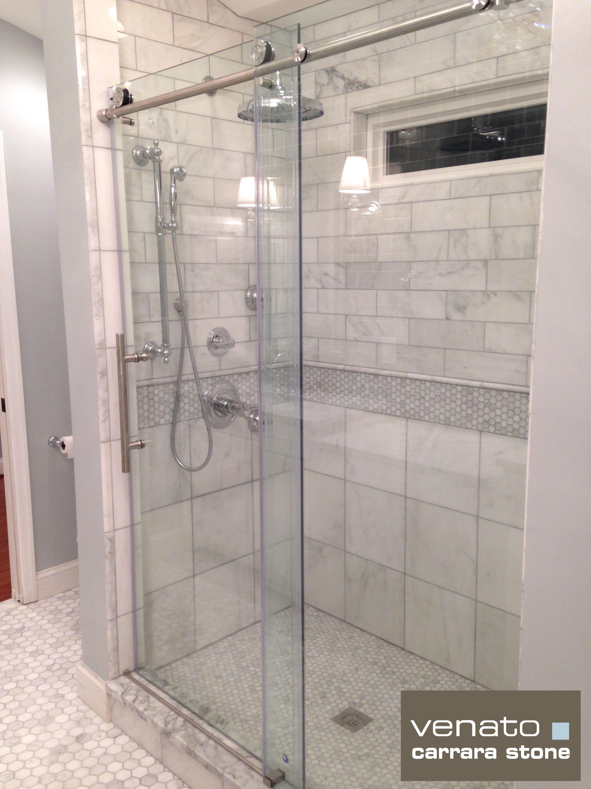 carrara tile bathroom. Subway Tiles In Attic Bathroom   Carrara Venato 4×12\u2033 Tile Polished $8.00 H
