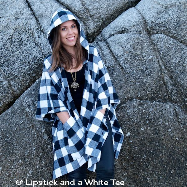 Poncho hoodie with pockets, DIY :) | When I get some free