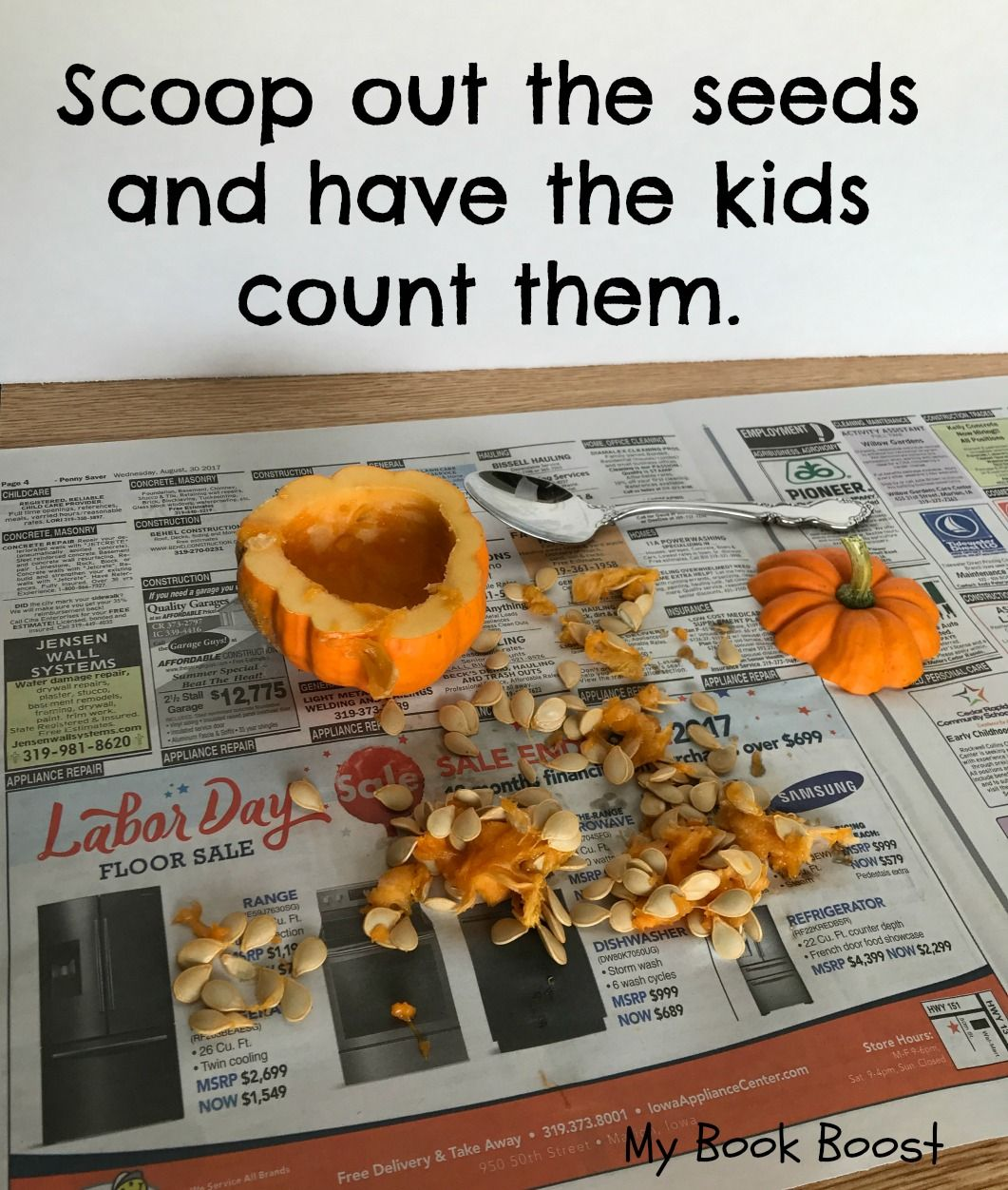 Simplify Pumpkin Seed Counting By Using Mini Pumpkins