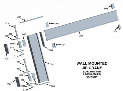 Column Mounted Jib Crane Welding Plans 2 Ton Capacity Welding Projects Welding Welding Art