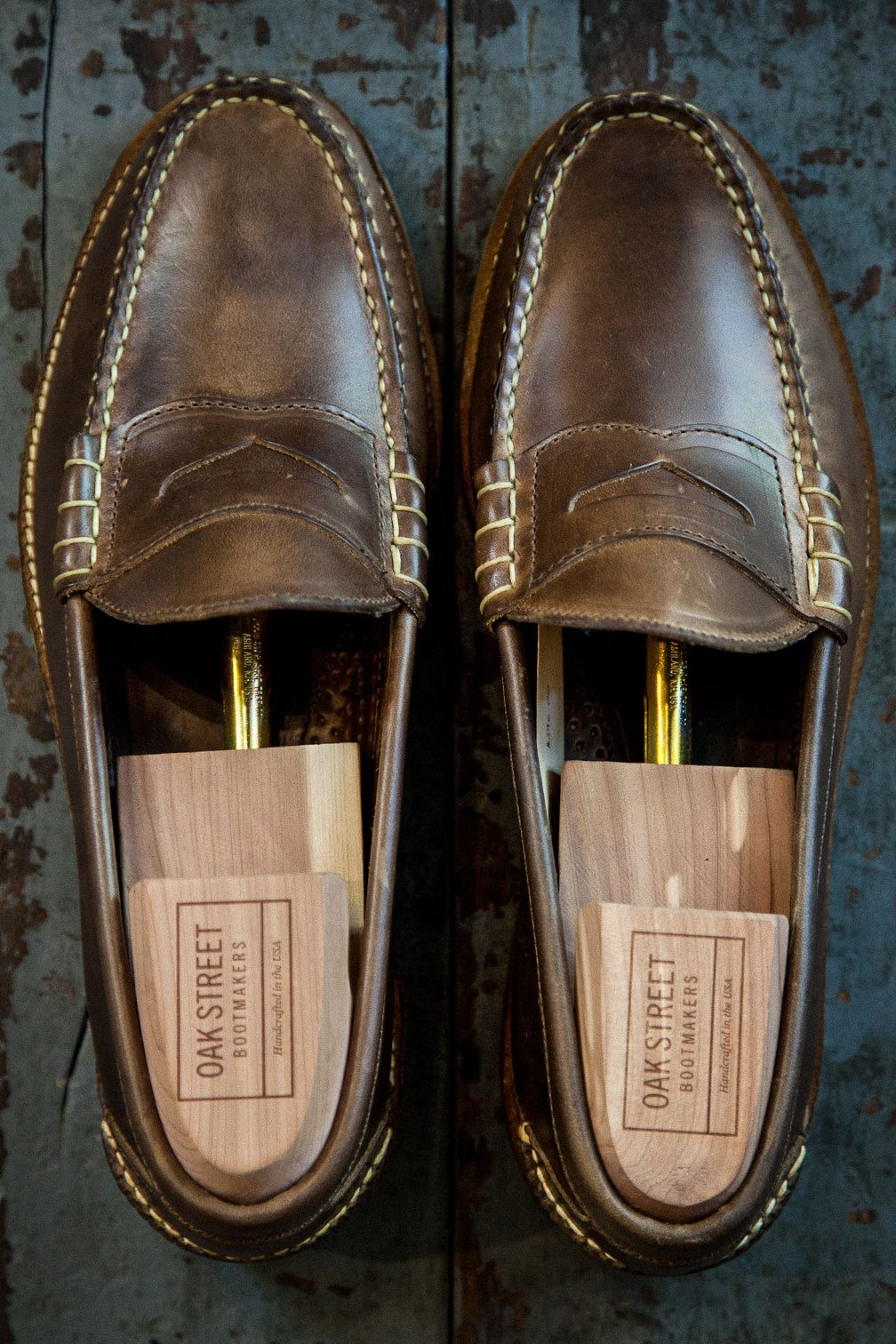 a1f9e36faf2 independencechicago  Oak Street Bootmakers Nautral Beefroll Penny Loafers  available at Independence.