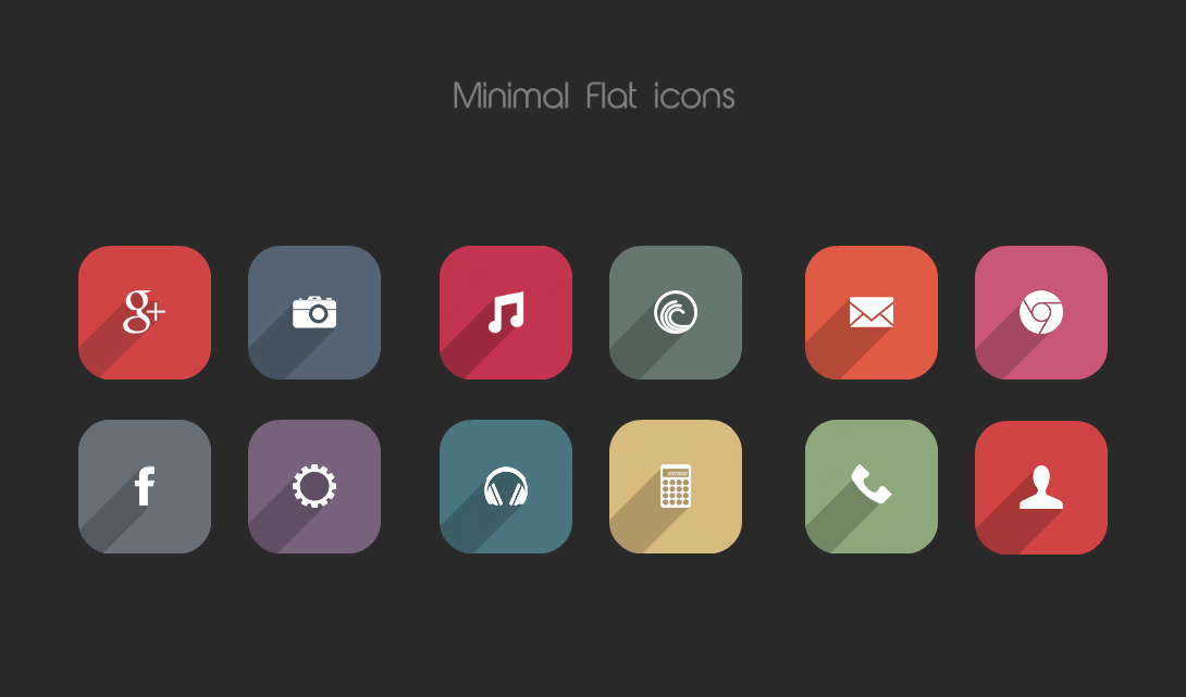 Minimal Flat icons by on