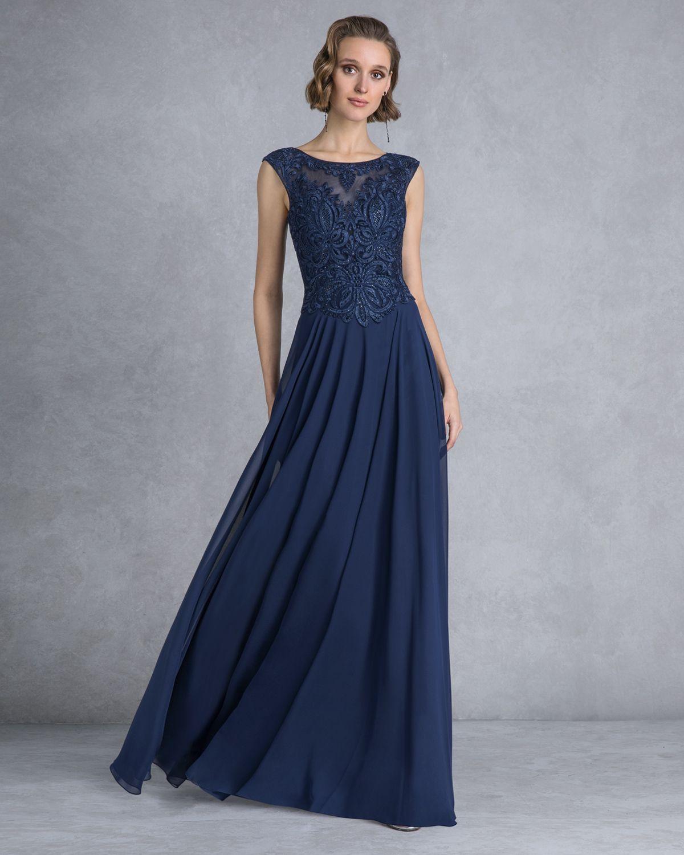 4ea5c74530f5 Βραδυνά Φορέματα   Βραδινό φόρεμα μακρύ με δαντελένιο τοπ
