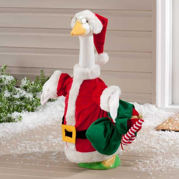 Santa Goose Outfit Mileskimball Goose Clothes Christmas Goose Duck Cloth