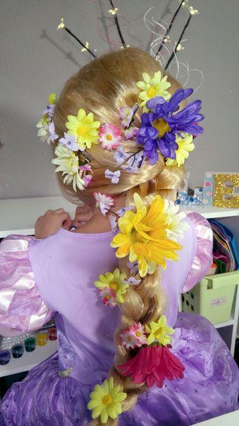 Diy Rapunzel Flower Hair Clips Disney Tangled Craft Flowers In Hair Flower Hair Clips Rapunzel