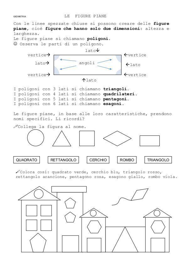 Le Figure Piane Con Le Linee Spezzate Chiuse La Teca Didattica Lavoretti Sulla Matematica Lezioni Di Geometria Matematica Scuola Media