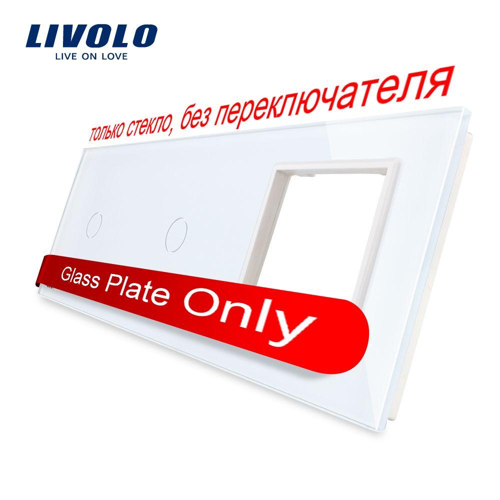 Livolo Blanco Perla de Cristal, 222mm * 80mm, estándar de LA UE, 2 ...