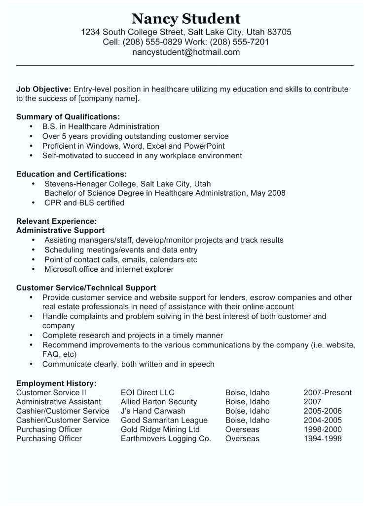 Resume Template For Medical Field Emelcotest