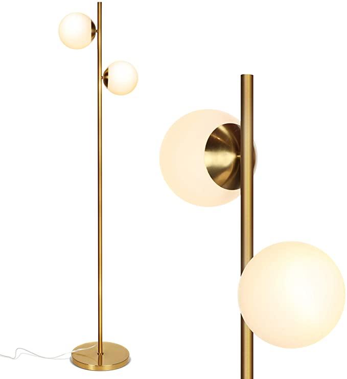 Brightech Sphere Mid Century Modern 2 Globe Floor Lamp For Living Room Bright Lighting Contemporary L In 2020 Globe Floor Lamp Lamps Living Room Modern Floor Lamps