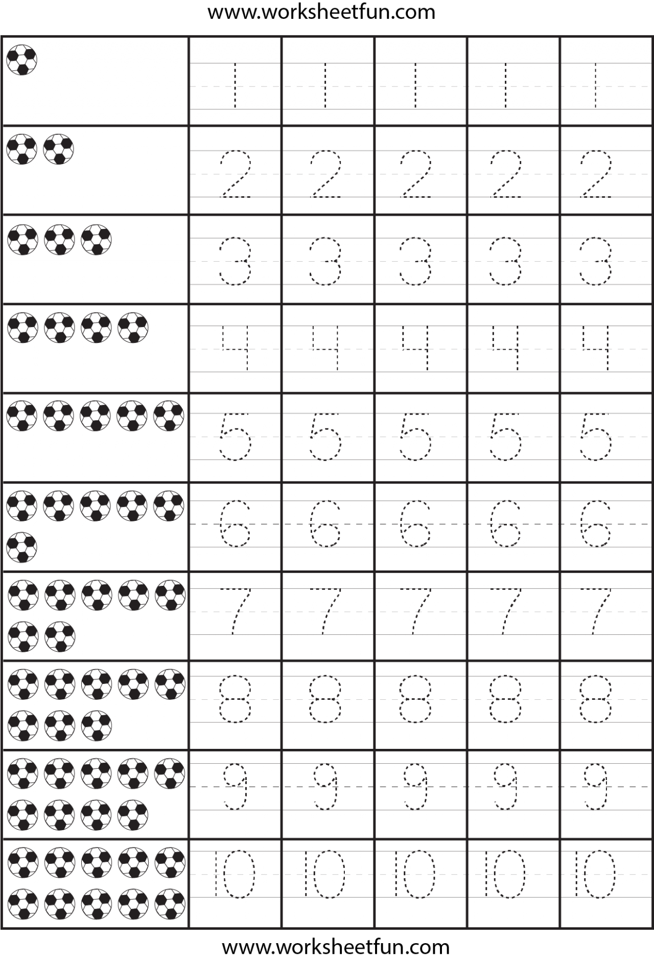 Number Tracing Worksheets Id 5 Worksheet