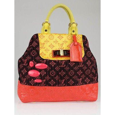 b621f307ab81 Louis Vuitton Limited Edition Neon Noir Monogram Motard Firebird Bag ...