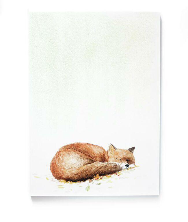 Ein toller Notizblock von Tartuffoli. Der Block hat insgesamt 50 bunt bedruckte Seiten für Notizen.   Das Fuchs wurde mit viel Liebe zum Detail von mir selbstentworfen und als Aquarell gemalt und folgend digitalisiert.