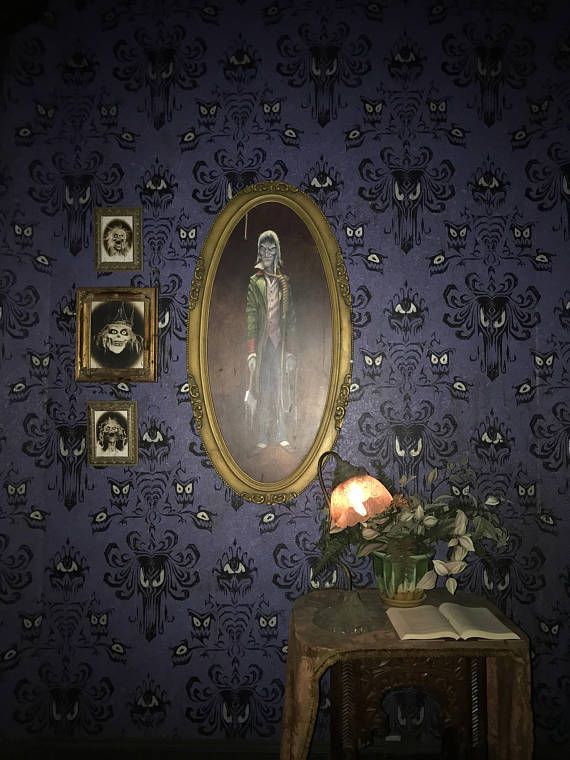 haunted mansion photo from inside the ride disneyland art