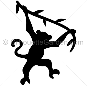 Swinging monkey clipart try