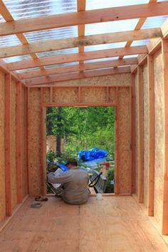 Shed With Clear Roof Diy Shed Plans Building A Shed Wood Shed Plans