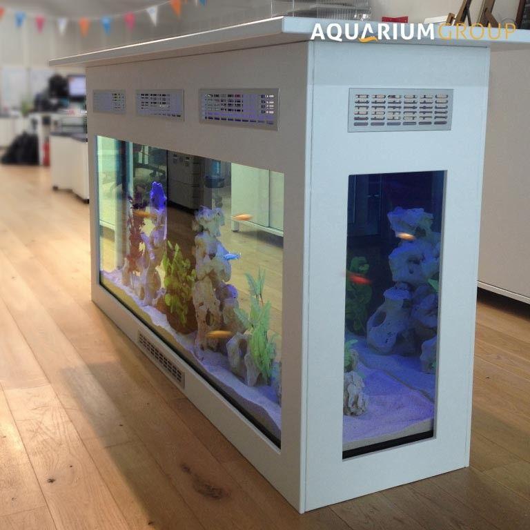 Freestanding counter aquarium a free standing bar for Fish tank bar