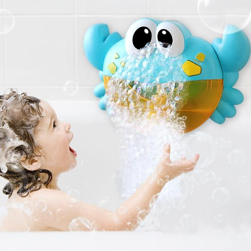 Music Crab Bath Toys Soap Bubble Maker Machine Safe Funny Baby Bathing Foaming