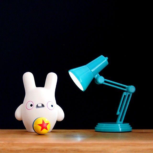 Baldwin ♥ Pixar #baldwin #bunny #pixar #luxojr #pixarlamp #resintoys #arttoy #toystagram #kawaii #dollyoblong #muffinman #baldwinandfriends