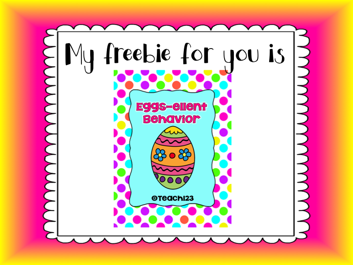 FREE Easter behavior packet.  Plus, enter to win $100 gift certificate.