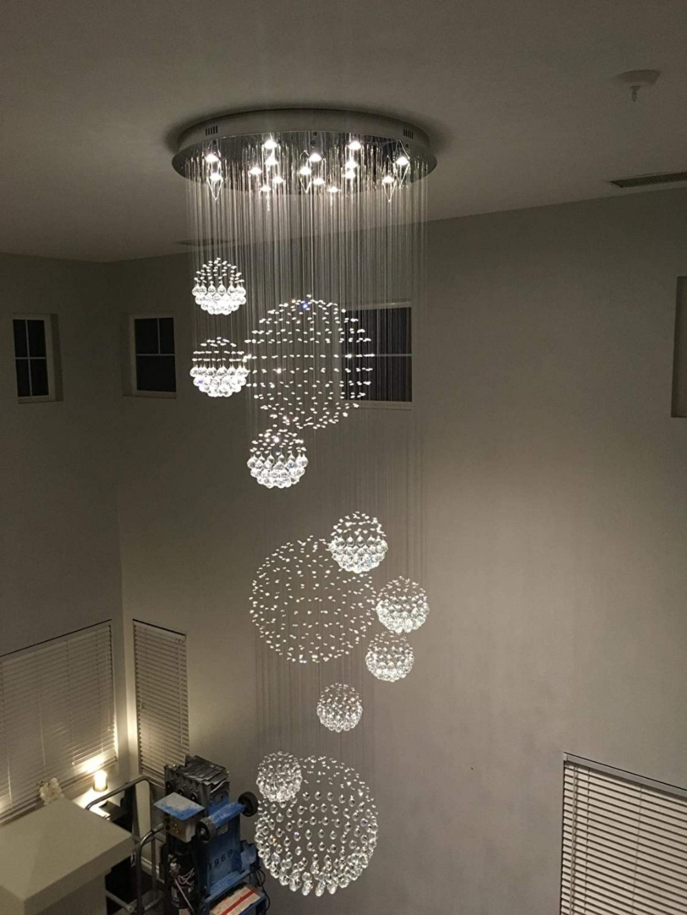 Amazon Com Crystop Crystal Chandelier Modern Spectacular Led