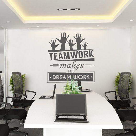 Teamwork Makes The Dream Work Teamwork Office Wall Art