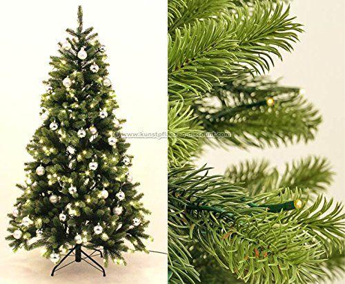 Weihnachtsbaum Künstlich Mit Beleuchtung | Pe Weihnachtsbaum Mit Beleuchtung Und Silberne Kugeln 210cm Narwik