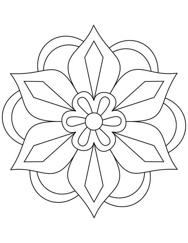 Diwali Rangoli Patterns Coloring Pages