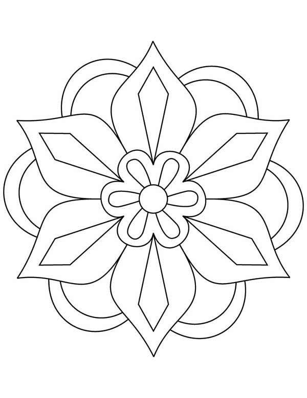 Paisley Mandala Coloring Pages Mandala Coloring Pattern Coloring Pages